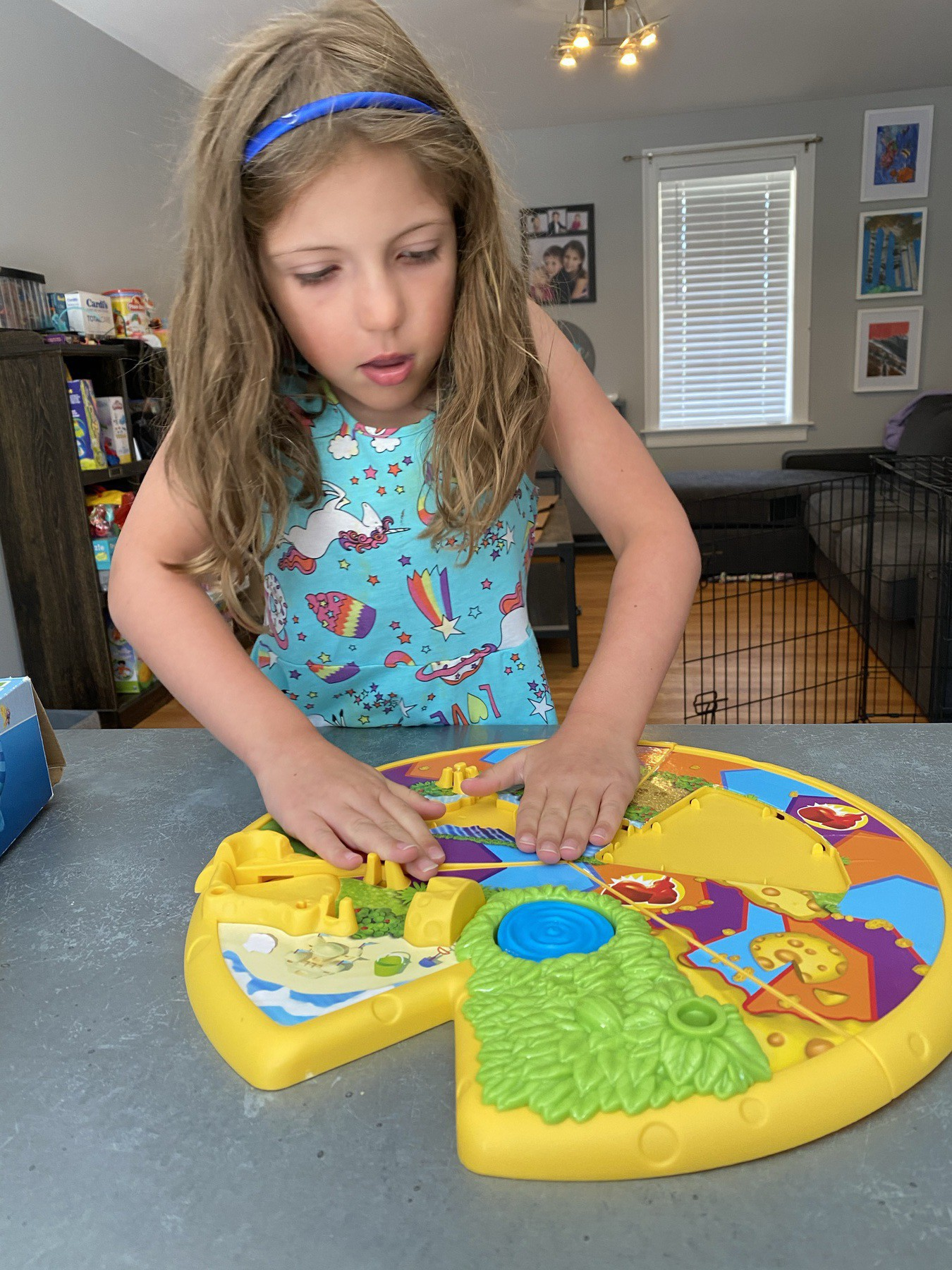 Picture of girl setting up mousetrap